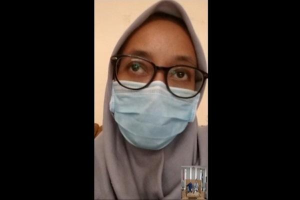 Tangkapan layar dalam video wawancara keluarga mantan pasien Covid-19. (Istimewa/Humas Pemda DIY)