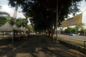 Pasar Sabtu dan Minggu di Alun-Alun Karanganyar Diliburkan