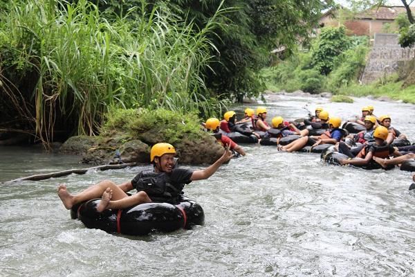 River Tubing di River Moon Kali Pusur Klaten. (Solopos.com/Dok)