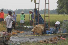 Semburan Lumpur Grobogan Surut, Sisakan Buih Seperti Air Mendidih