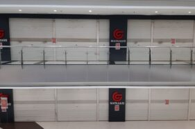 Gerai Matahari di Hartono Mall Solo Baru tutup sejak Senin (30/3/2020). (Istimewa)