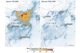 Ini Foto Satelit NASA Sebelum dan Sesudah Virus Corona Mewabah di China