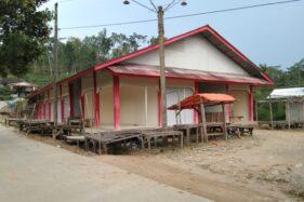 Pasar Tenggar di Desa Jeblogan, Kecamatan Karangtengah, Wonogiri, Sabtu (28/3/2020), tutup. (Istimewa)
