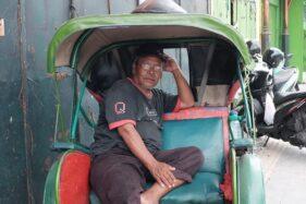 Solo Sepi Imbas Corona, Penarik Becak Merana
