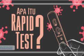 Ingat! Hasil Rapid Test Positif Belum Tentu Pasien Terpapar Covid-19