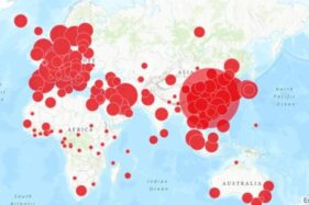 Ilustrasi situs Peta untuk memantau sebaran virus corona. (Istimewa)