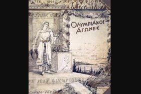 Poster Olimpiade Athena, 1896. (Wikimedia.org)