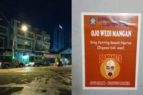 Satuan Polisi Pamong Praja (Satpol PP) Kota Solo menggelar razia di sejumlah warung makan yang masih buka hingga larut malam, Selasa (7/4/2020). (Istimewa/Muhammad Thorix)