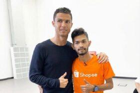 Cristiano Ronaldo bersama Martunis (Instagram)