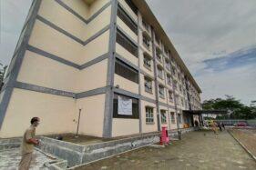 Bangunan rusunawa di Kemiri, Mojosongo, Boyolali, yang dimanfaatkan untuk RS darurat corona, Senin (6/4/2020). (Solopos/Bayu Jatmiko Adi)