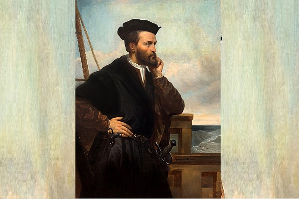 Potret karya Theophile Hamel yang menggambarkan sosok Jacques Cartier. (Wikipedia.org)