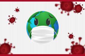 Ilustrasi wabah virus corona. (Freepik)