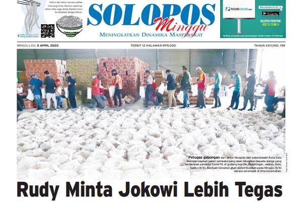 Headline Solopos, Minggu (5/4/2020).