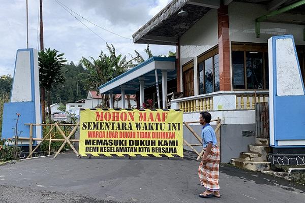 Isolasi Wilayah Nglebak: Tamu Wajib Lapor dan Cuci Tangan
