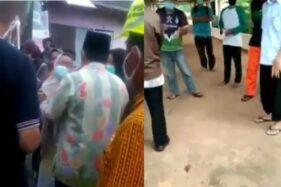 Video rekaman jenazah perawat RSUP Kariadi Semarang yang ditolak warga di TPU Sewakul, Jumat (10/4/2020). (Istimewa/Lambe_Turah)