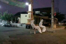 Ini Kisah di Balik Foto Viral Pocong Jaga Kampung di Nguter Sukoharjo