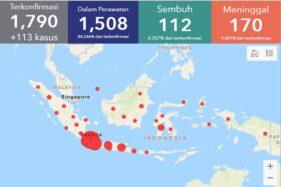 2 Provinsi Masih Zero Kasus, Ini Sebaran Corona di Indonesia