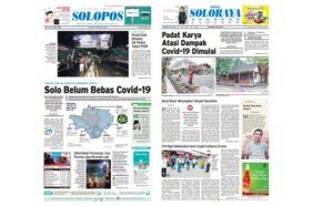 Harian Umum Solopos edisi Jumat (3/4/2020) dengan headline Solo belum bebas Covid-19.