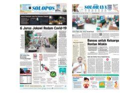 Harian Umum Solopos edisi hari ini, Rabu (1/4/2020).