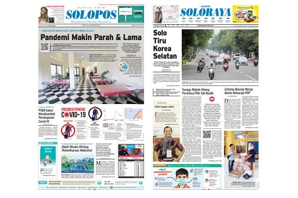 Solopos Hari Ini: Pandemi Corona Makin Parah & Lama