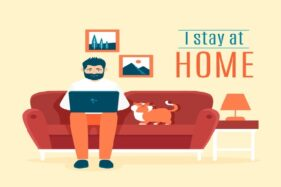 Ilustrasi kerja di rumah. (Freepik)