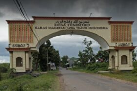 Gapura Masuk Desa Temboro, Magetan, Jawa Timur. (Google Maps)