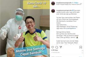 Unggahan Tung Desem Waringin menyatakan dirinya positif virus corona (Covid-19). (Instagram @tungdesemwaringin.tdw)