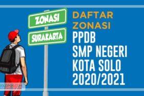 Daftar Zonasi PPDB SMP Negeri di Solo 2020. (Solopos/Whisnupaksa Kridhangkara)