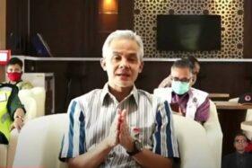 Gubernur Jawa Tengah Ganjar Pranowo. (Youtube-bnpb)