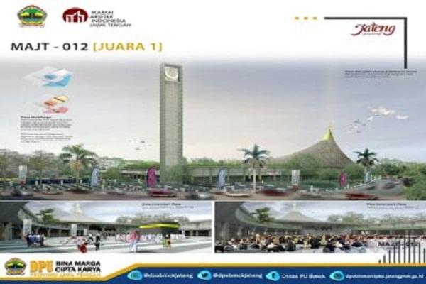 Desain MAJT Magelang karya arsitek asal Bandung. (Semarangpos.com-Humas Pemprov Jateng)