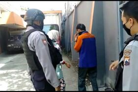 Pemudik Asal Boyolali Tepergok Turun Dari Mobil Boks di Selter Manahan Solo
