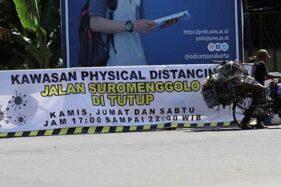 Jl. Suromenggola akan menjadi salah satu jalan di Ponorogo yang akan ditutup untuk memaksimalkan penerapan physical distancing mulai Kamis (21/5/2020). (Istimewa/Pemkab Ponorogo)