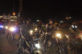 Malam Lebaran, Aparat Wonogiri Gelar Patroli Skala Besar
