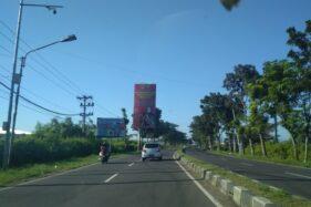 Kondisi lalu lintas di Jalan Raya Sukoharjo-Wonogiri tampak lengang, Senin (25/5/2020). (Indah Septiyaning W./Solopos)