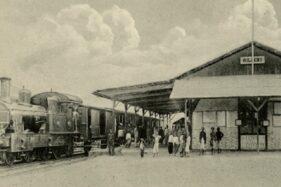 Kondisi Stasiun Willem I pada tahun 1905 saat masih beroperasi. (Website—heritage.kai.id)