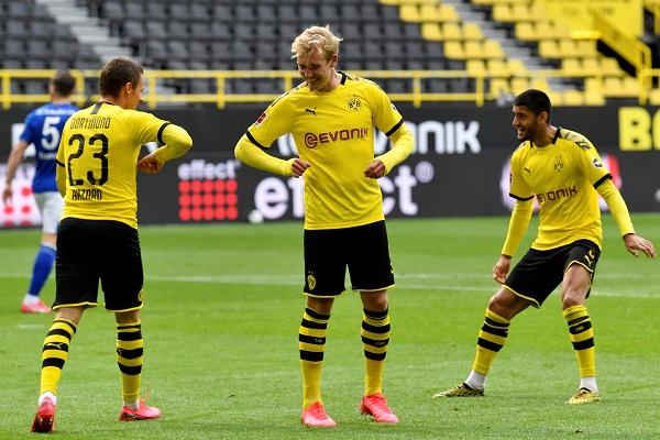 Selebrasi Gol Physical Distancing Ala Liga Jerman