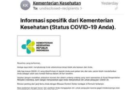 Email Kemenkes Terkait Pemeriksaan Covid-19 Dipastikan Hoaks, Ini Faktanya!