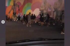 Video Viral! Banyak Pesepeda Asyik Nongkrong di Bawah Flyover Manahan Solo