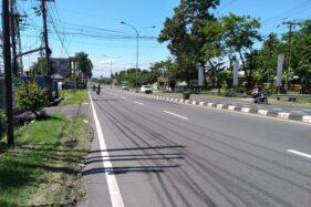 Jalan Boyolali-Solo lengang pada Minggu (24/5/2020). (Solopos-Bayu Jatmiko Adi)