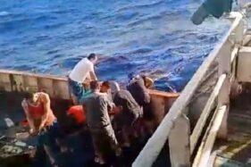Jenazah WNI, ABK di kapal China dibuang ke laut beberapa waktu lalu. (Istimewa).