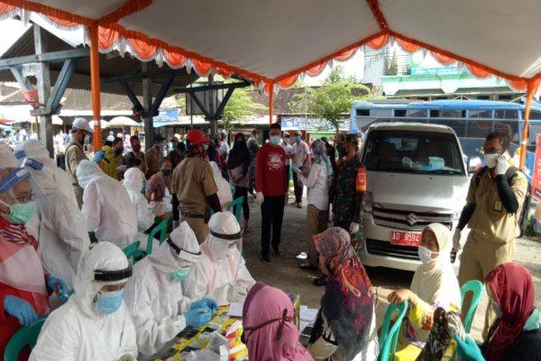 217 Pedagang Pasar Juwangi Boyolali Disasar Rapid Test Covid-19, Bagaimana Hasilnya?