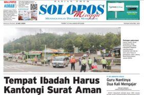 Solopos edisi Minggu (31/5/2020).