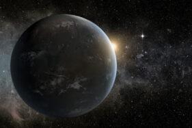 Ilustrasi planet di galaksi lain yang setara dengan bumi. (Istimewa)