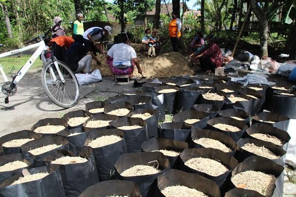 Tak Mau Bergantung Bantuan Pemerintah, Warga Tibayan Bikin Jimpitan & Tanam Sayuran
