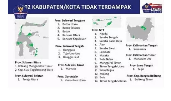 102 Kabupaten Kota Zona Hijau Covid 19 Segera Terapkan New Normal Jateng Cuma Tegal