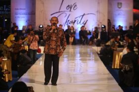 Wali Kota Solo, F.X. Hadi Rudyatmo di acara Love in Charity Concert di Solo Paragon Lifestyle Mall, Solo, Rabu (1/5/2020) malam. (Solopos/M. Ferri Setiawan)