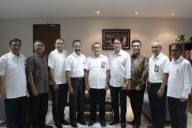 Jajaran komisioner dan deputi komisioner BP Tapera saat berkunjung ke Kementerian PUPR, 2 April 2019. (Istimewa/www.tapera.go.id)