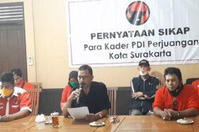 Pengurus & Kader PDIP Solo Nyatakan Dukungan untuk Gibran di Pilkada 2020