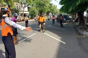 Belum Ada Sanksi, Ini Langkah Satlantas dan Dishub Solo Halau Pesepeda Di Flyover Manahan