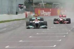 Ilustrasi Balapan F1 (Twitter/@f1)